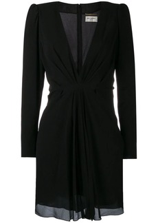 Saint Laurent draped V-neck dress