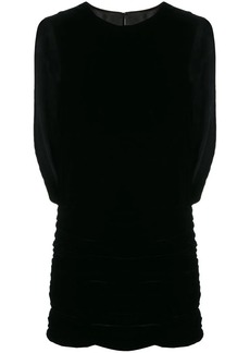 Saint Laurent draped velvet mini dress