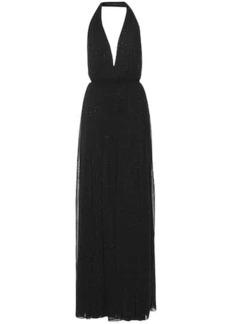 Saint Laurent Embellished halter dress