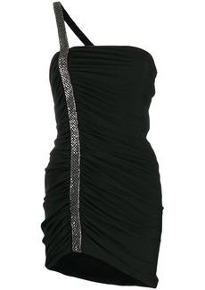 Saint Laurent embellished strap mini dress