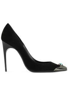Saint Laurent embellished toe pumps