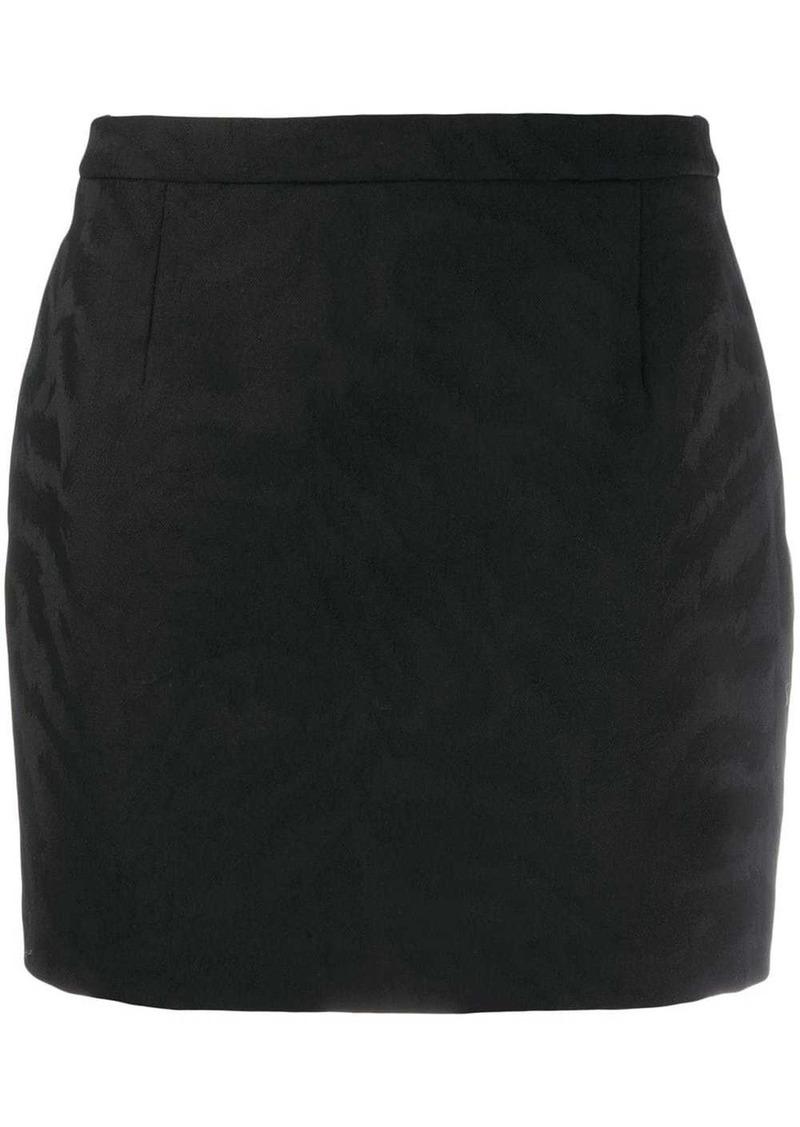 Saint Laurent embossed animal pattern mini skirt