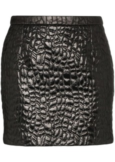 Saint Laurent embossed mini skirt