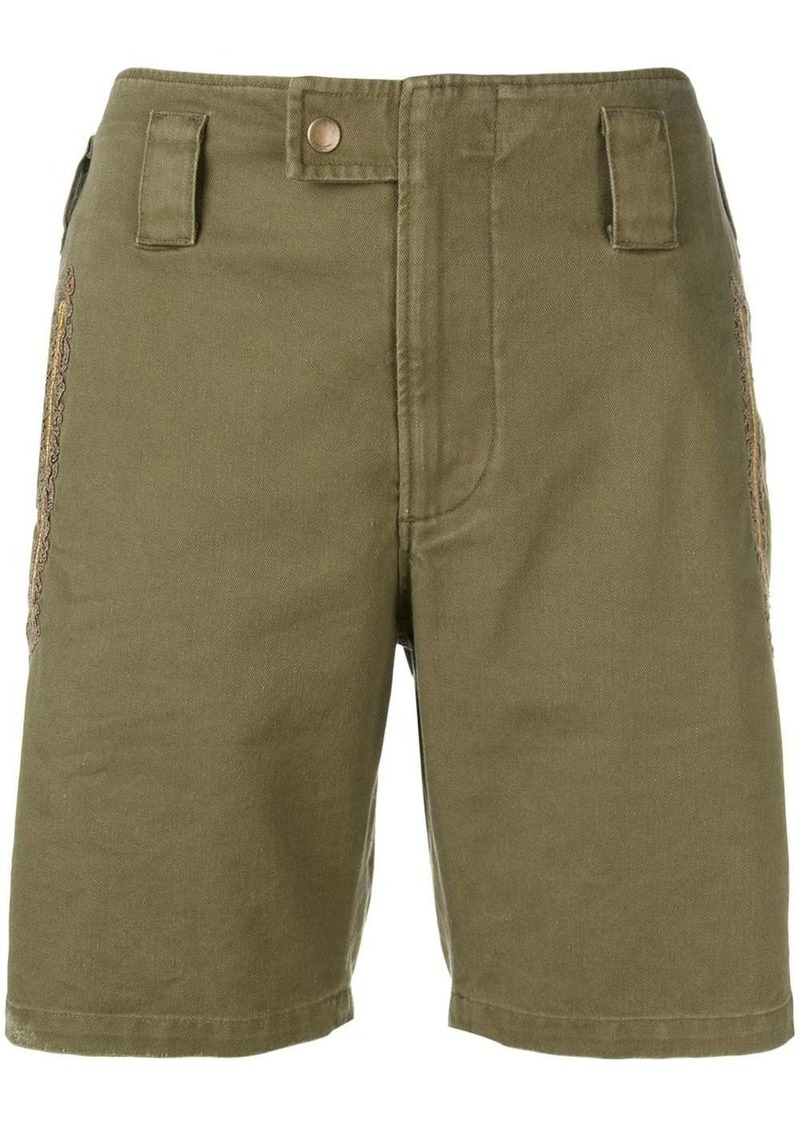 Saint Laurent embroidered detail shorts