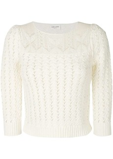 Saint Laurent embroidered fitted sweater