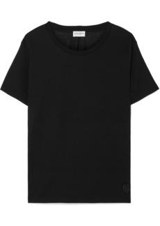 Saint Laurent Essentials Appliquéd Cotton-jersey T-shirt