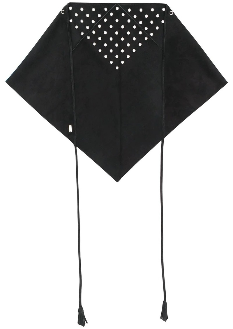 Saint Laurent eyelet triangular scarf