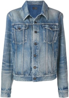 Saint Laurent faded effect denim jacket