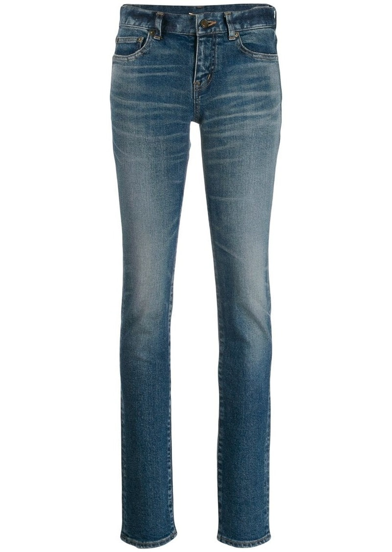 Saint Laurent faded skinny jeans