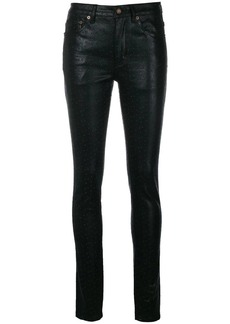 Saint Laurent faux-leather trousers