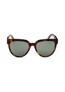 Saint Laurent Faux Tortoiseshell 54MM Round Sunglasses