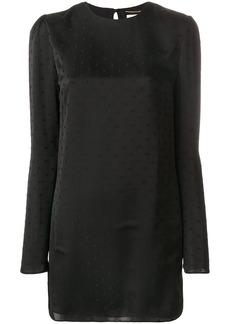 Saint Laurent Fil Coupé mini dress