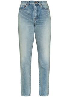 Saint Laurent faded carrot-fit jeans