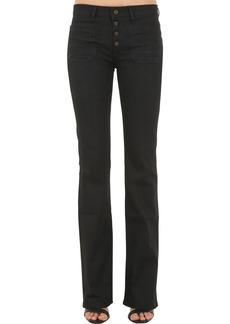 Saint Laurent Flared Cotton Denim Jeans