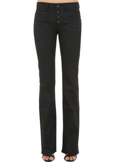 Saint Laurent Flared Cotton Denim Jeans