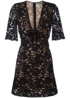 Saint Laurent floral lace cocktail dress