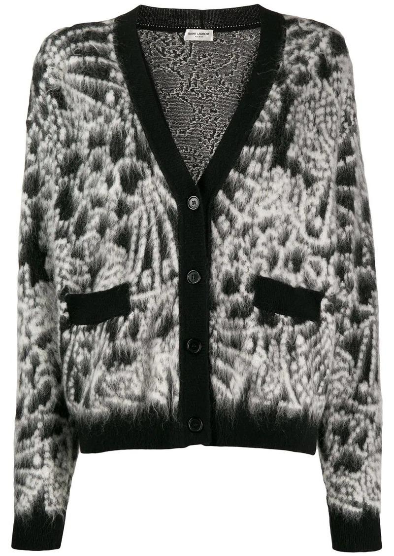 Saint Laurent fluffy knit cardigan