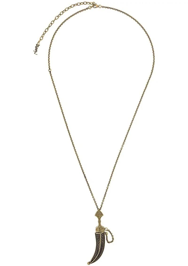 Saint Laurent Folk Saber pendant