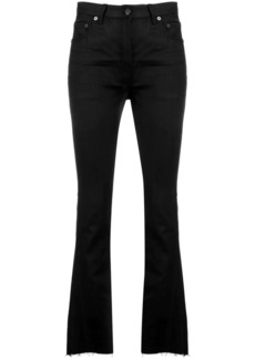Saint Laurent frayed flared jeans