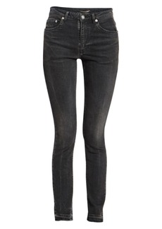 Saint Laurent Frayed Hem Jeans