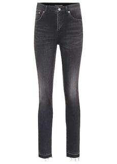 Saint Laurent Frayed high-rise skinny jeans