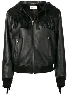 Saint Laurent fringed hooded jacket