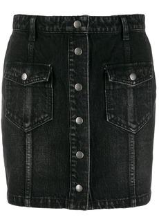 Saint Laurent front button fastening denim skirt