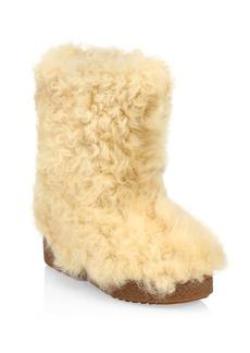 Saint Laurent Furry Shearling Snow Boots