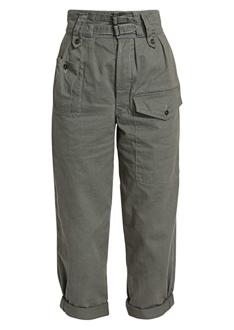 Saint Laurent Gabardine Khaki Cargo Pants