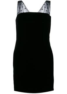 Saint Laurent gathered sleeve mini dress