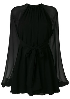 Saint Laurent georgette mini dress
