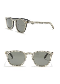 Saint Laurent Glitter 49mm Square Sunglasses