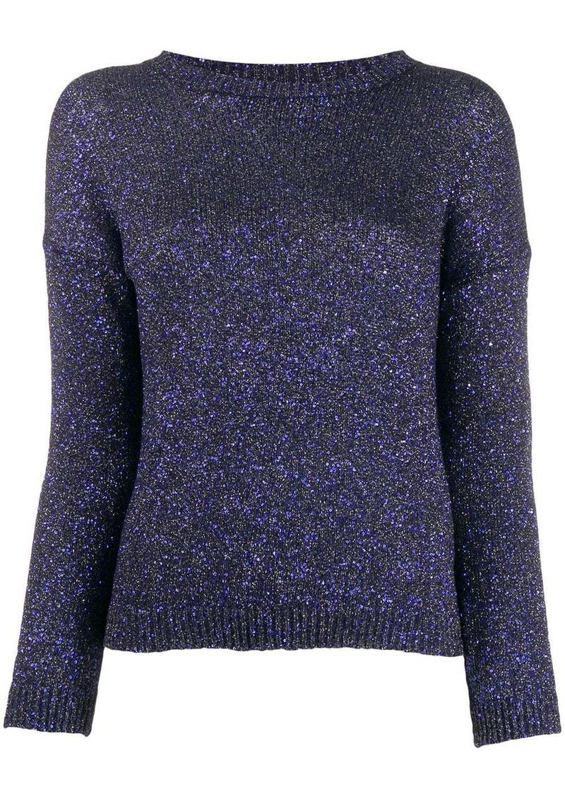 Saint Laurent glitter crew neck sweater