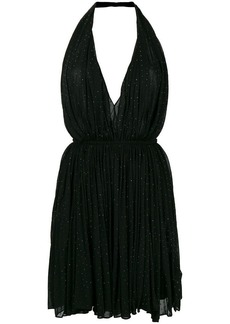 Saint Laurent glitter detail halterneck dress