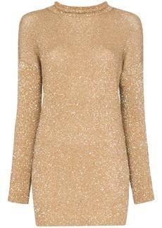 Saint Laurent glitter embellished mini jumper dress