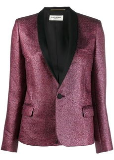 Saint Laurent glitter tuxedo blazer