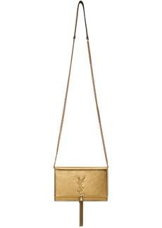 Saint Laurent Gold Kate Tassel Chain Wallet Bag