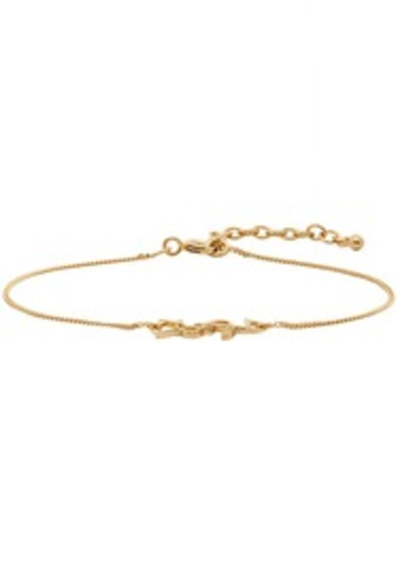Saint Laurent Gold Logo Rope Bracelet