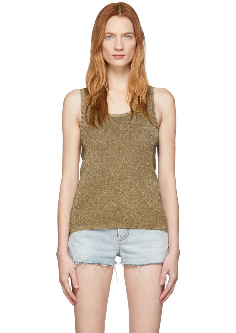 Saint Laurent Gold Lurex Tank Top