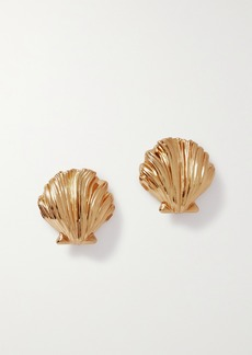 Saint Laurent Gold-tone Clip Earrings