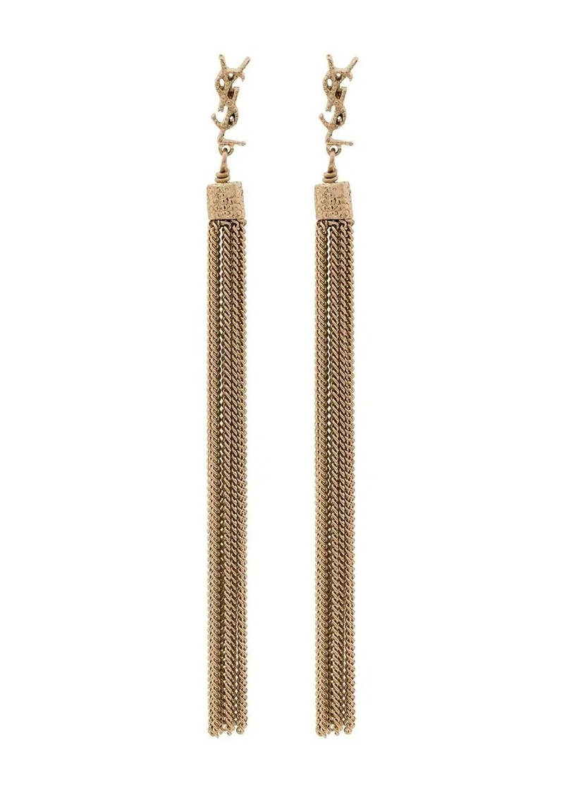 Saint Laurent YSL tassel drop earrings