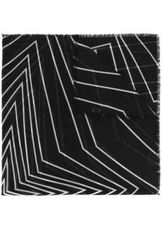 Saint Laurent graphic line print scarf