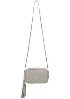 Saint Laurent Grey Mini Lou Camera Bag