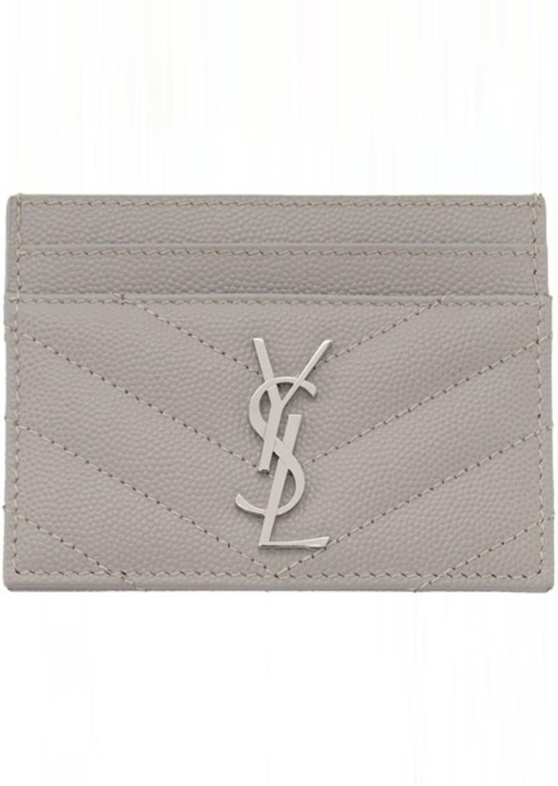 Saint Laurent Grey Monogramme Card Holder