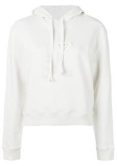 Saint Laurent heart embroidered hoodie