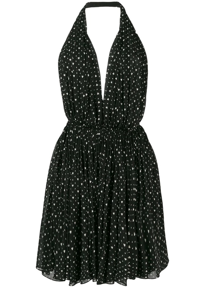 Saint Laurent heart printed dress