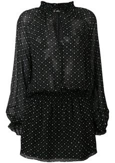 Saint Laurent hearts print Georgette dress
