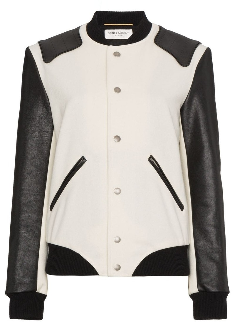 Saint Laurent Heaven varsity jacket