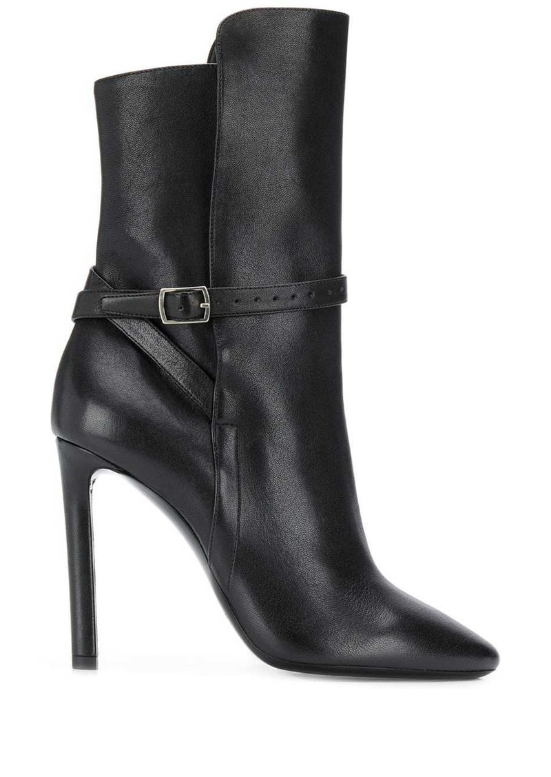 Saint Laurent high-heeled pointed ankle boots