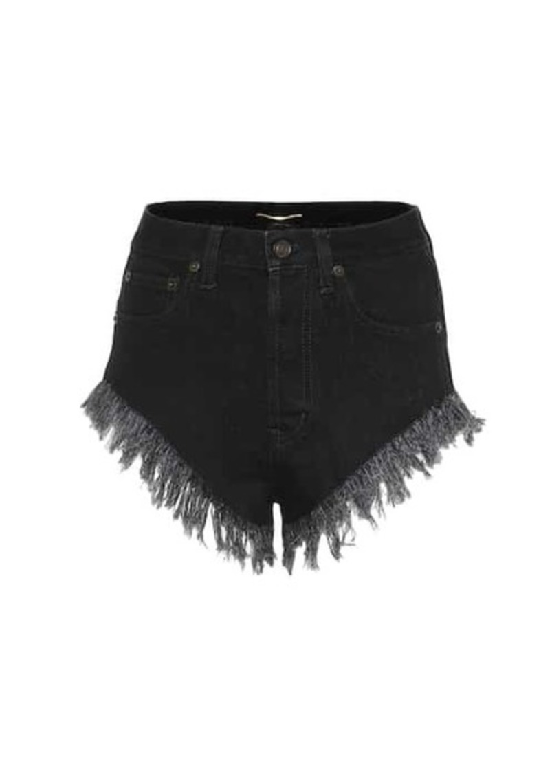Saint Laurent High-rise denim shorts